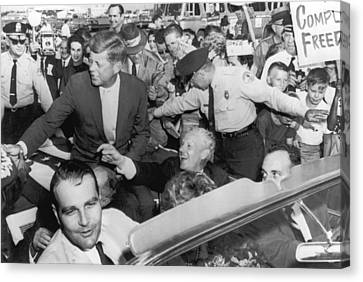 Kennedy With Albert Gore Canvas Print