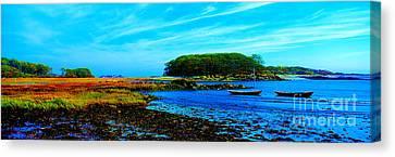 Canvas Print featuring the photograph Kennepunkport Vaughn Island  by Tom Jelen