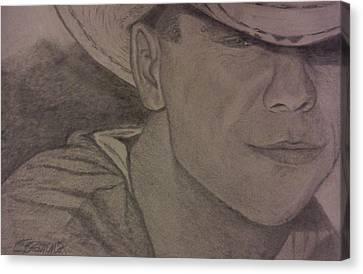 Kenny Chesney Canvas Print by Christy Saunders Church