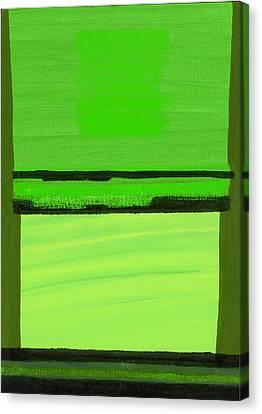 Kensington Gardens Series Green On Green Oil On Canvas Canvas Print by Izabella Godlewska de Aranda