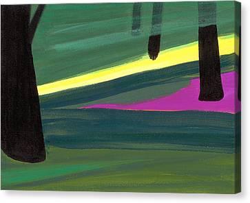 Kensington Gardens Series Light In The Park Oil On Canvas Canvas Print by Izabella Godlewska de Aranda