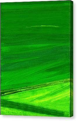 Kensington Gardens Series My World Of Green 4 Oil On Canvas Canvas Print by Izabella Godlewska de Aranda