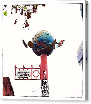 Kensington Market Globe Canvas Print by Tanya Harrison