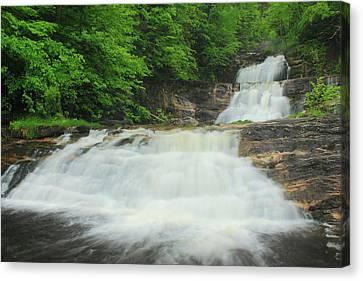 Kent Falls Waterfall Canvas Print by John Burk