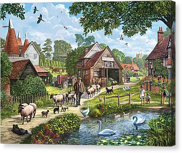 Kentish Farmer Canvas Print by Steve Crisp