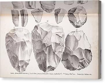 Kents Cavern Stone Tools Canvas Print by Paul D Stewart