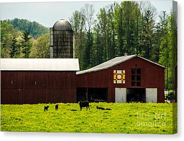 Kentucky Barn Quilt - 1 Canvas Print by Mary Carol Story