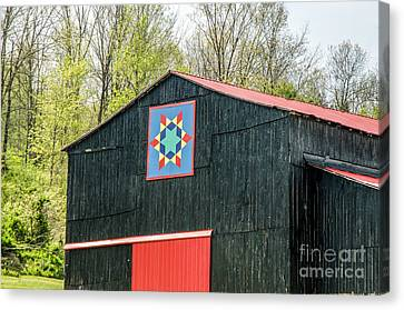 Kentucky Barn Quilt - 2 Canvas Print by Mary Carol Story