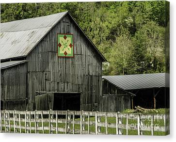 Kentucky Barn Quilt - 3 Canvas Print by Mary Carol Story