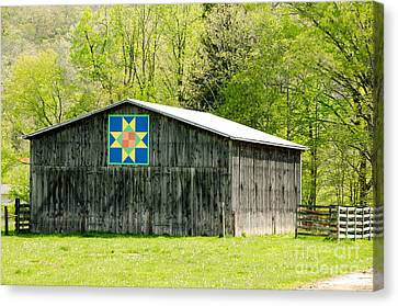 Kentucky Barn Quilt - Eight-pointed Star Canvas Print by Mary Carol Story
