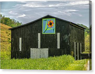 Kentucky Barn Quilt - Flower Of Friendship Canvas Print by Mary Carol Story