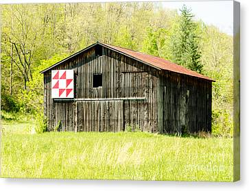 Kentucky Barn Quilt - Flying Geese Canvas Print by Mary Carol Story