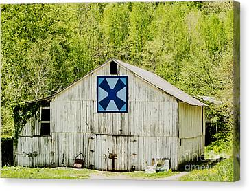 Kentucky Barn Quilt - Windmill Canvas Print by Mary Carol Story