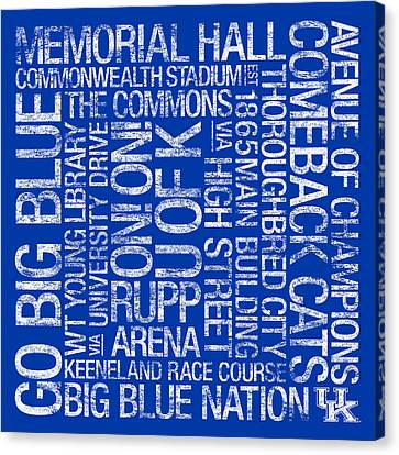 Kentucky College Colors Subway Art Canvas Print by Replay Photos