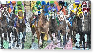 Kentucky Derby 2014 Canvas Print by Michael Lee