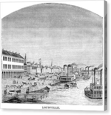 Canvas Print featuring the painting Kentucky Louisville, 1870 by Granger