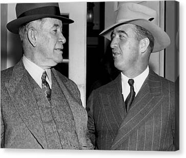 Kentucky Senators Visit Fdr Canvas Print by Underwood Archives