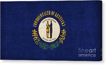 Kentucky State Flag Canvas Print by Pixel Chimp