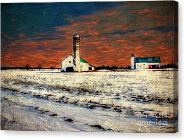 Kentucky Sunrise Canvas Print by Darren Fisher