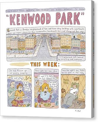 Kenwood Park Canvas Print by Roz Chast