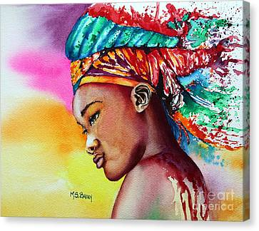 Canvas Print featuring the painting Kenya by Maria Barry