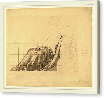 Kenyon Cox, Drapery Study For Reclining Female Study Canvas Print by Litz Collection