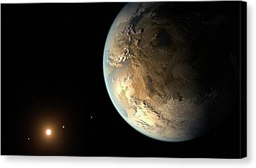 Goldilocks Canvas Print - Kepler-186f by Nasa/ames/seti Institute/jpl-caltech
