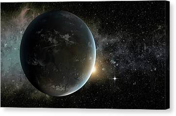 Kepler-62f Canvas Print by Nasa/ames/jpl-caltech