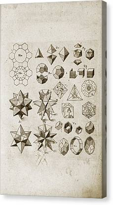 Platonic Canvas Print - Kepler On Polyhedral Geometry by Library Of Congress