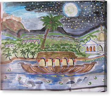Canvas Print featuring the painting Kerela  by Vikram Singh