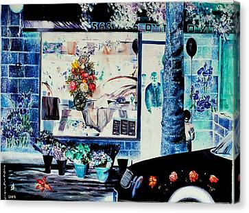 Keren Kayemet Flowers Canvas Print by Nekoda  Singer