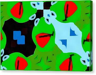 Kermit The Frog Pop Art Canvas Print by Dan Sproul