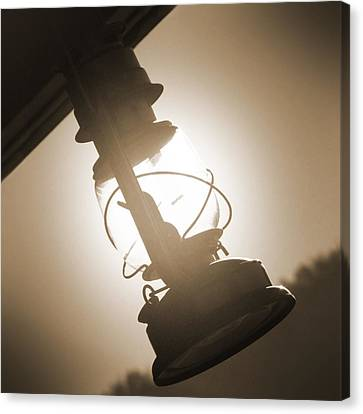 Oil Lamp Canvas Print - Kerosene Lantern by Mike McGlothlen