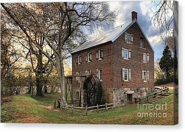Kerr Grist Mill At Sloan Park Canvas Print by Adam Jewell