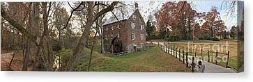 Kerr Grist Mill Landscape Panorama Canvas Print by Adam Jewell