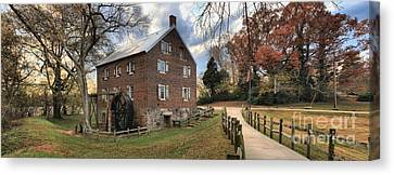 Kerr Grist Mill Panorama Canvas Print by Adam Jewell