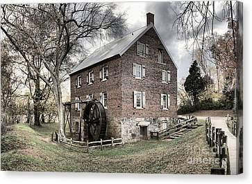 Kerr Gristmill In North Carolina Canvas Print by Adam Jewell
