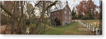 Kerr Mill Panorama Landscape Canvas Print by Adam Jewell
