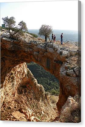 Keshet Cave Canvas Print by Noreen HaCohen