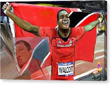 Keshorn Walcott Canvas Print by Vannetta Ferguson