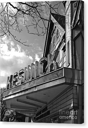 Canvas Print featuring the photograph Keswick Theater by Val Miller