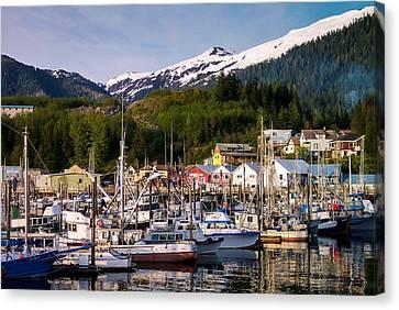 Ketchikan Alaska Dock Canvas Print by Michael J Bauer