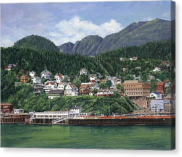 Ketchikan Alaska Canvas Print by Don  Langeneckert
