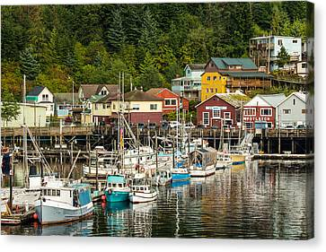 Ketchikan Harbor Canvas Print by Steven Bateson
