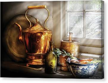 Kettle - Cherished Memories Canvas Print by Mike Savad