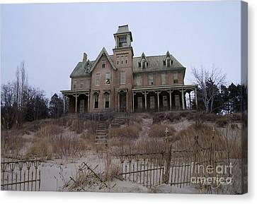 Haunted House Canvas Print - Kettle Point Manor by Tom Straub