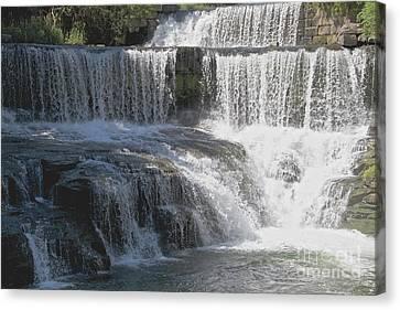 Keuka Seneca Waterfall Canvas Print by William Norton