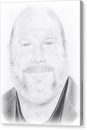 Hyperrealistic Canvas Print - Kevin Chamberlin Portrait by Trevin  Nocent