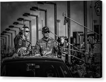 Kevin Harvick And Brad Keslowski Canvas Print by Kevin Cable