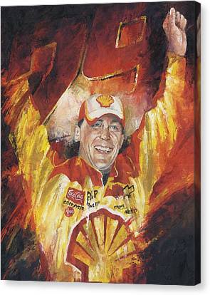 Kevin Harvick Canvas Print by Christiaan Bekker